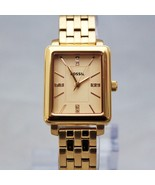 New Fossil BQ3275 Fenton Rectangle Rose Gold Stainless  Steel Women Watch - $143.55