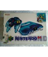 RARE, BLUE Nintendo 64,Aqua Blue Nintendo 64 Boxed Complete Mario 64 Edi... - $1,399.99