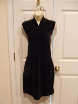 New In Pkg Brown Stretch Velvet Sheath Dress Size MEDIUM- 6-8 - $29.69