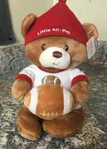 Baby Gund ~ Plush BabyTeddy Bear With Football Rattle ~ Little All Pro  ... - $6.80