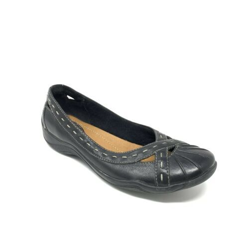 Primary image for Clarks Artisan Driving Mocs Womens Size 6.5 M  Black Leather Cutout Flats 63857
