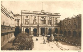 Malta The Royal Malta Library Postkarte c1930s - $6.89