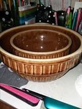 "stoneware bowls 6"" 8"" - $14.96"
