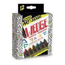 Crayola Art with Edge Wedge Markers, Adult Colouring, School and Craft...  - $17.62