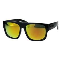 KUSH Sunglasses Mens Mirrored Lens Black Square Frame Shades UV 400 - $9.95