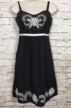 Size 0 Anthropologie Moulinette Soeurs Atwitter Dress Black White  Embro... - $33.55