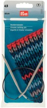 Prym 211275 Circular knitting needles, aluminium, 40cm, 4.50mm, grey - $15.54 CAD