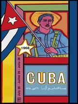"20x30""Political World Solidarity Socialist Poster CANVAS.Cuba Castro.6224 - $75.00"