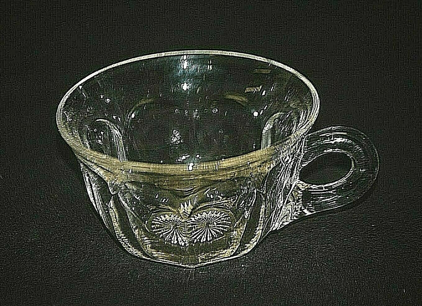 """Old Vintage Colonial Clear by Heisey 2"""" Flat Punch Cup Panel Design 1907 ~ 1956 - $8.90"""