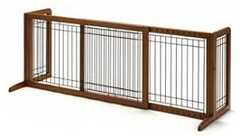 Richell Wood Freestanding Pet Gate, Large, Autumn Matte Finish - $223.98