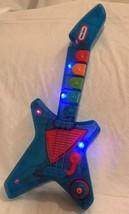 "Little Tikes PopTunes Guitar Blue Light Up See Through Rock Tunes 16.5"" ... - $31.67"
