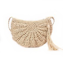 Gs for women 2018 summer fashion ladies mini shoulder bag bali beach round straw rattan thumb200