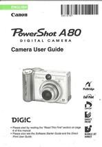 Canon Powershot A80 Original Camera User Guide Instruction Manual English - $14.84