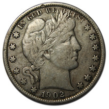 1902 Liberty Barber Head Half Dollar 50¢ Silver Coin Lot# A 2020