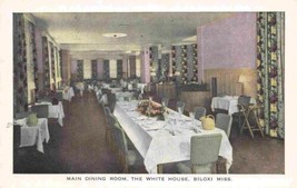 Main Dining Room The White House Biloxi Mississippi postcard - $6.44