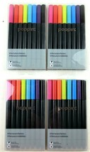 Poppin Permanent Markers 8 Pack Lot 4 Packs Bullet Tip Assorted Inks NEW - $17.72