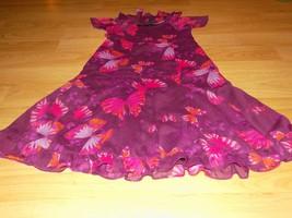 Girl's Size Large 10 Gap Kids Plum Purple & Pink Butterfly Print Summer Dress  - $22.00