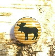 "Moose Birch Knob, Handmade Drawer Pull, 1.5"" Wildlife Lodge Cabinet Pull... - $5.94"