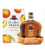CROWN ROYAL PEACH, LIMITED EDITION 750 ml Empty bottle, box & bag  - $24.30