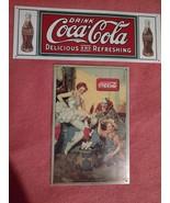 Coca Cola Metal Signs -1990 Clown, Ballerina, Boy, Dog &1 Delicious & Re... - $29.97