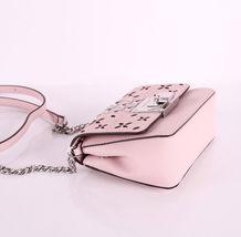 Michael Kors Tina womens small CLUTCH BAG crossbod stud floral Pink NWT  image 6