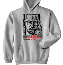Malcolm X 1 - New Cotton Grey Hoodie - All Sizes In Stock - $40.40