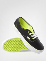 New Vans Authentic T Pop Neon Black Yellow Shoes Mens 8.5 Womens 10 New Era Nib - $45.80