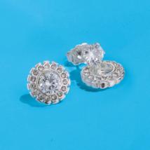 Avon Convertible Halo CZ Stud Earrings - $15.84
