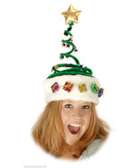 GREEN SPRINGY CHRISTMAS TREE HAT FUN @ CHRISTMAS - NEW! - $18.39