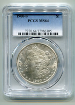 1900-S MORGAN SILVER DOLLAR PCGS MS64 NICE ORIGINAL COIN PREMIUM QUALITY PQ - $715.00