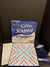 Deluxe Edition Super Scrabble Crossword Board Game  Game Board Complete ... - $84.14
