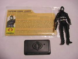 2007 Gi Joe Cobra Commander Comp w/File & Stand 25th Anniv. Cobra Legion... - $5.90