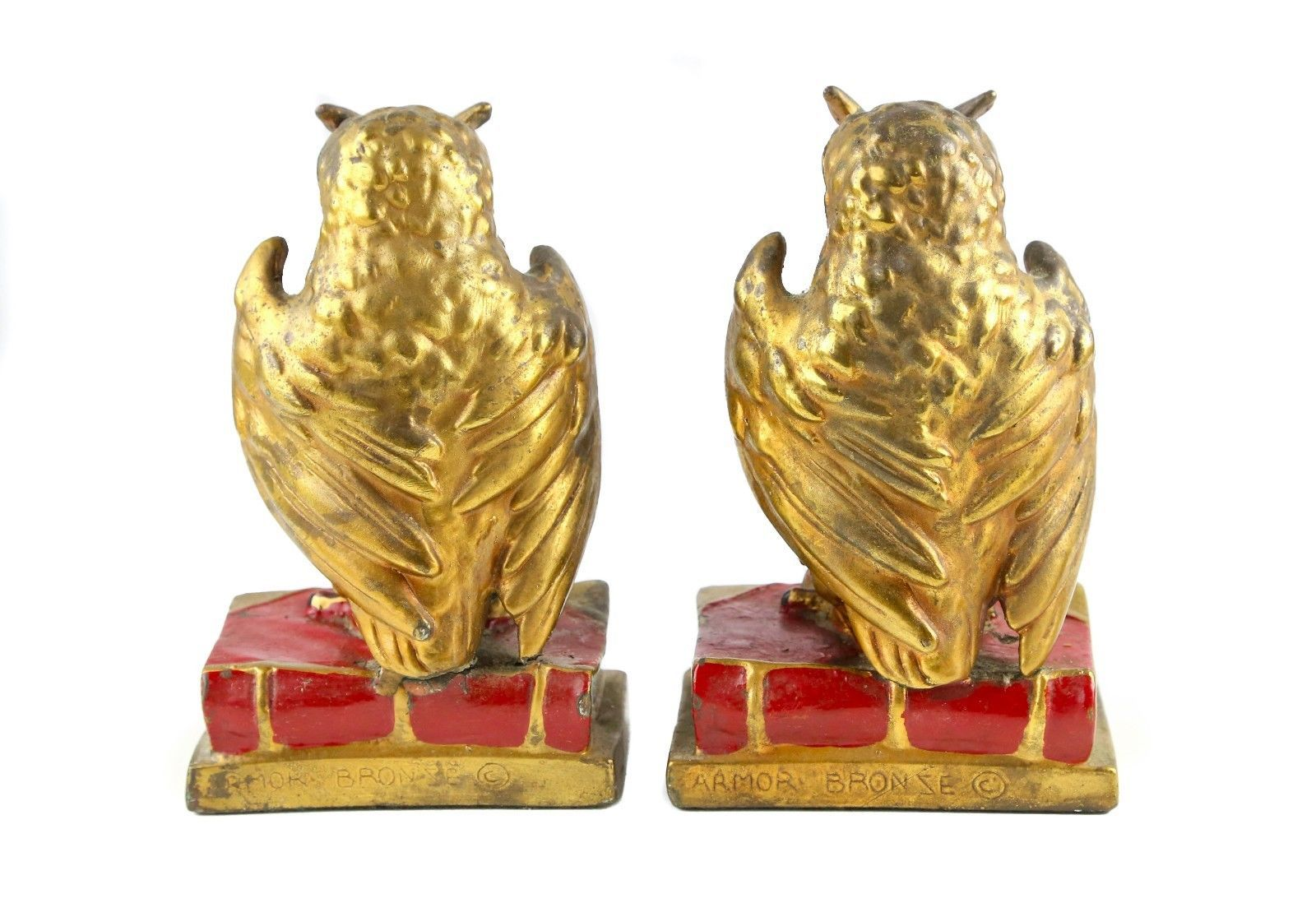 Antique armor bronze painted owl bookends and 50 similar items - Armor bronze bookends ...