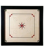 """Best 27.5"""" Large carromboard Wooden Carrom Board Game + acrylic Coins + ... - £118.51 GBP"""