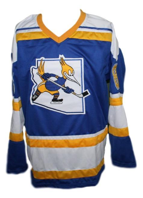 Robbie Ftorek Phoenix Roadrunners Retro Hockey Jersey New Blue Any Size