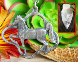 Vintage Walking Horse Tennessee Walker Morgan Pendant Necklace Figural - $24.95