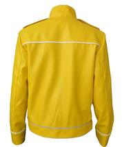 Freddie Jacket Tribute Concert Belted Motorcycle Yellow PU Leather Costume image 5