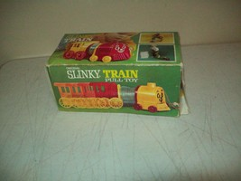 Vintage Slinky TRAIN pull toy no. 200 James Industries with the box nice... - $19.75