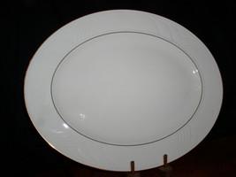 """Lenox Golden Sand Dune 13"""" Oval Serving Platter-Carved fine Coll,Embosse... - $69.95"""