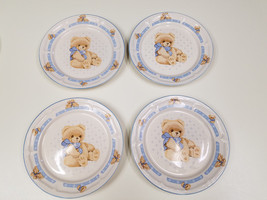 "4 Tienshan Theodore Country Bear Stoneware Dinner Plates - 10 1/2"" - Set 2 - $19.39"