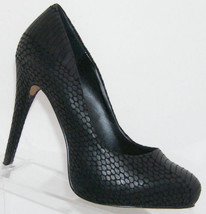 Jessica Simpson Nelson black animal print man made platform heels 7M 6033 - $33.34