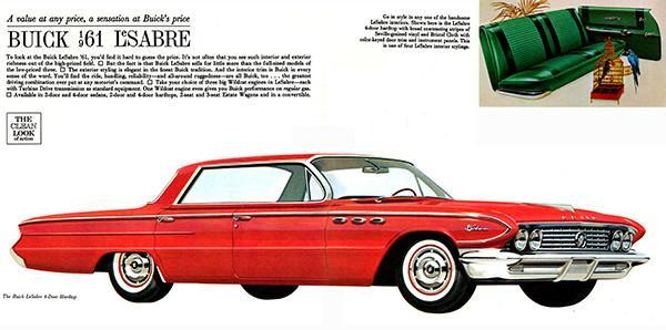 Primary image for 1961 Buick LeSabre 4-Door Hardtop - Promotional Advertising Poster