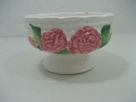 Vintage Ceramic Porcelain Pedestal Bowl Floral Details 1989 Japan Model ... - $10.35