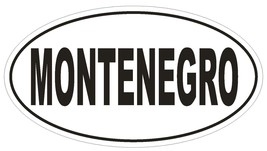 Montenegro Oval Bumper Sticker or Helmet Sticker D2203 Euro Oval Country Code - $1.39+