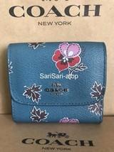 Coach Wildflower Print Small Wallet Dark Teal F15563 NWT - $125.96