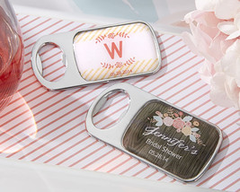 Personalized Bridal Shower Wedding Favor Rustic Floral Woodgrain Bottle ... - $89.25+