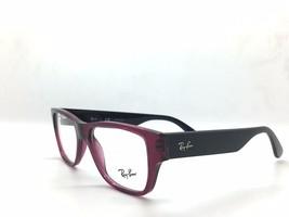 Ray Ban Eyeglasses RX7028 5394 Transparent Dark Violet Highstreet Frame ... - $78.17