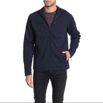 $128 Tailor Vintage, Waffle Bonded Fleece Full Zip Jacket , Navy,Size L - $42.56