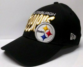 PITTSBURGH STEELERS SLOUCH STYLE FITTED HAT MENS SMALL/MEDIUM MADE BY NE... - $19.80
