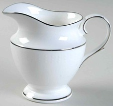 "Lenox ""Herald Square White"" CREAMER BONE CHINA MADE IN USA NEW - $39.40"
